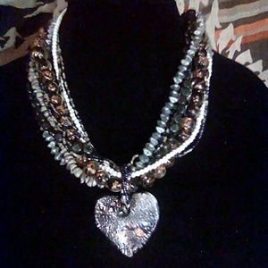 Unbranded multi strand heart necklace